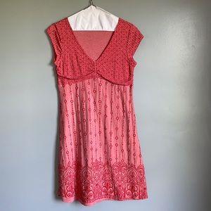 athleta dhara dress floral Ditsy paisley pattern